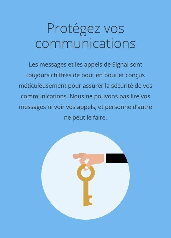 Application Signal Messenger - chiffrement de bout en bout